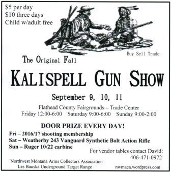 Kalispell Gun Show Fall 2016
